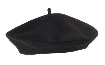 Baskenmütze - Wool Fashion Beret (schwarz)