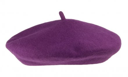 Baskenmütze - Wool Fashion Beret (lila)