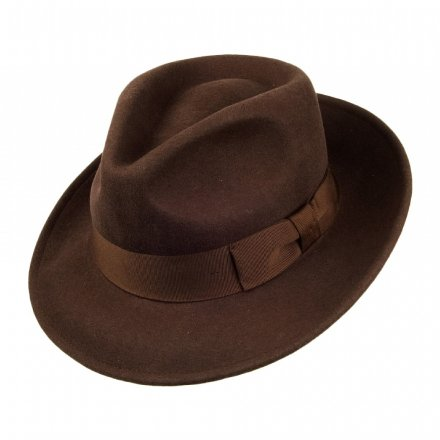 Hüte - Crushable C-Crown Fedora (braun)