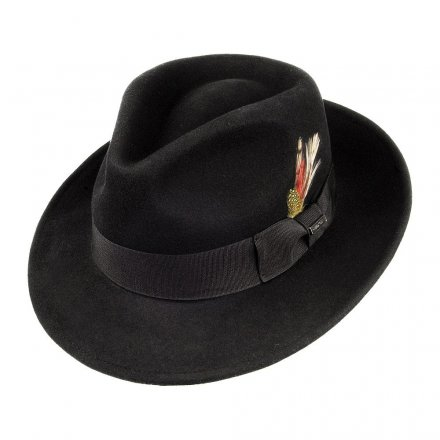 Hüte - Crushable C-Crown Fedora (schwarz)