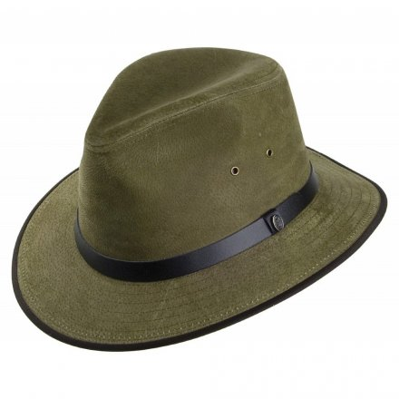 Hüte - Nubuck Leather Safari Fedora (olive)