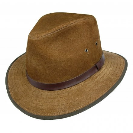 Hüte - Nubuck Leather Safari Fedora (braun)