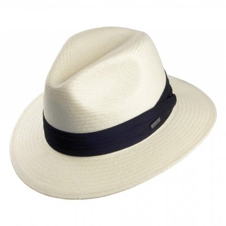 Hüte - Toyo Safari Fedora With Black Band (weiß)