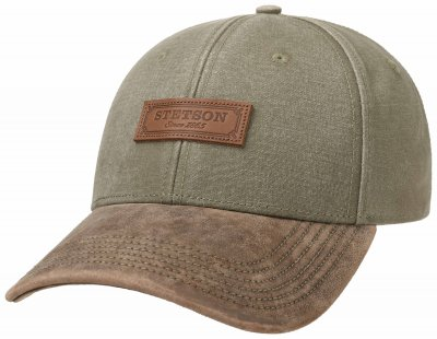 Caps - Stetson Baseball Cap Cotton (grau grün)