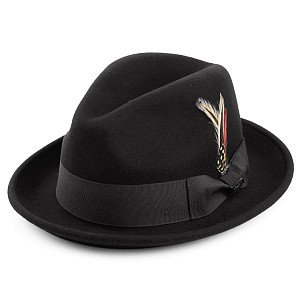 Hüte - Crushable Blues Trilby (schwarz)