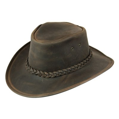 Hüte - Jaxon Hats Crushable Leather Outback (braun)