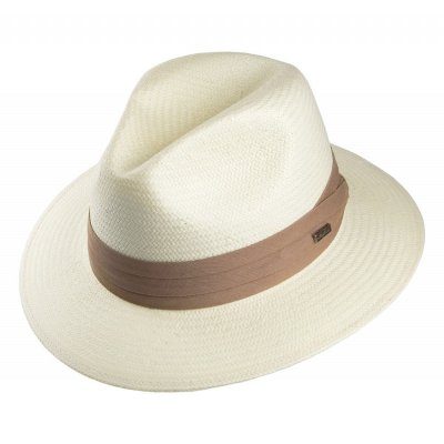Hüte - Toyo Safari Fedora With Khaki Band (weiß)